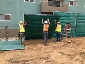 Sound Barrier Installation